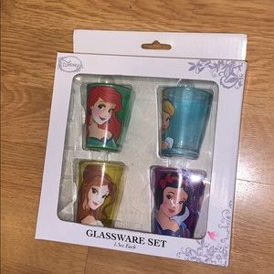 NIB Disney Princess Shot Glasses, 4 piece set